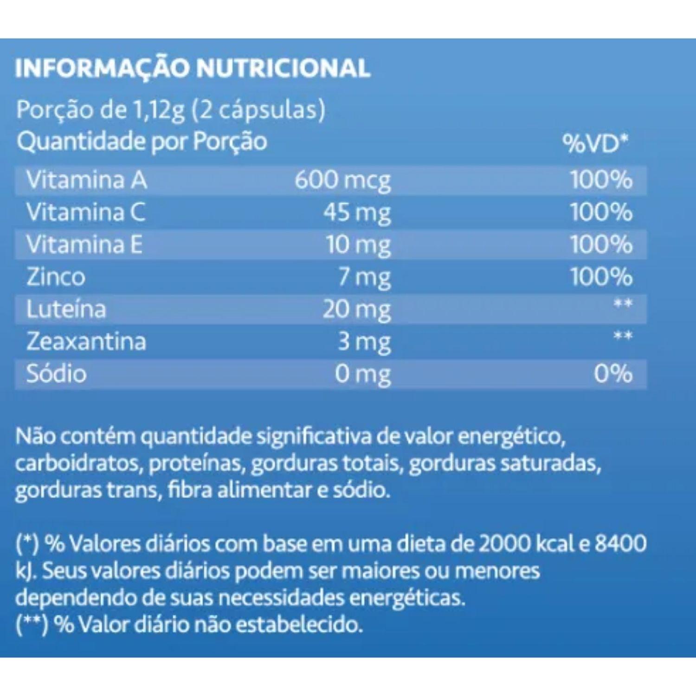 Luteimax Luteína e Zeaxantina 20mg 60 Cápsulas Maxinutri