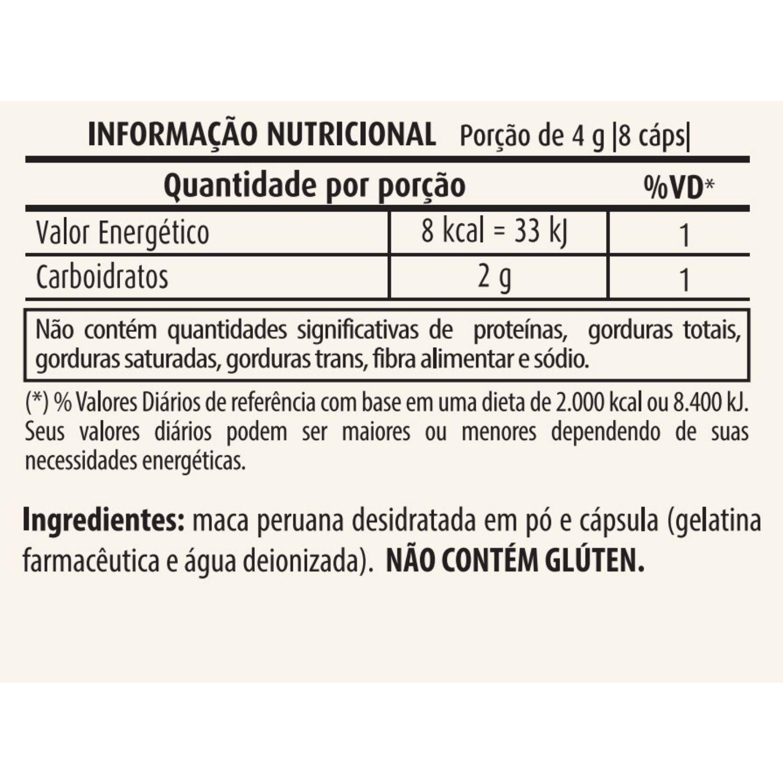 Maca Peruana 500mg 120 cápsulas Apisnutri