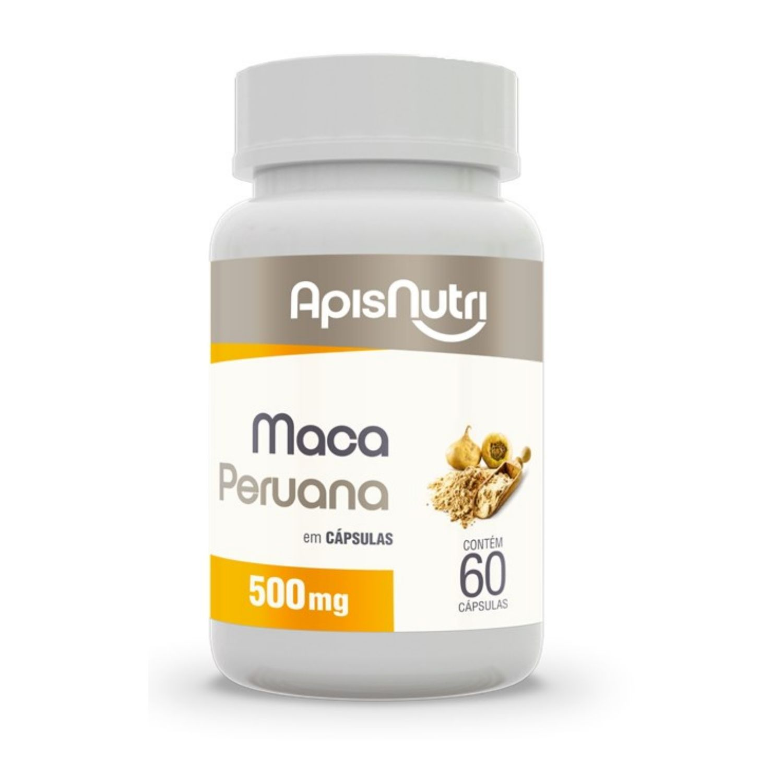 Maca Peruana 500mg 60 cápsulas Apisnutri