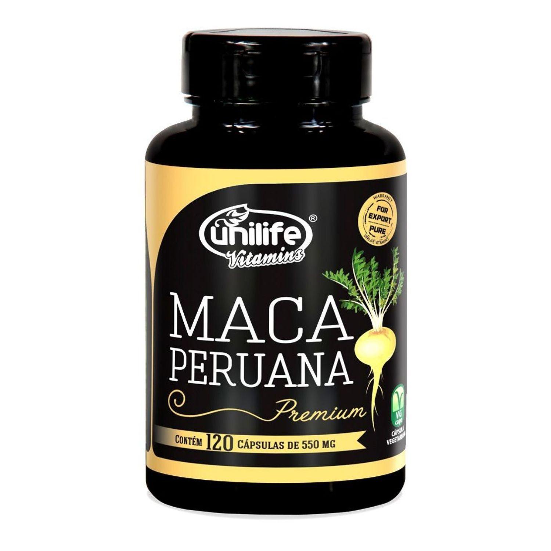 Maca Peruana Premium 550mg 120 cápsulas Unilife