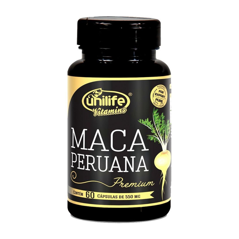Maca Peruana Premium 550mg 60 cápsulas Unilife