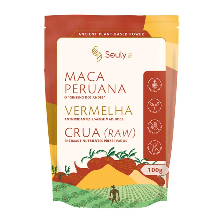 Maca Peruana Vermelha 100g Souly