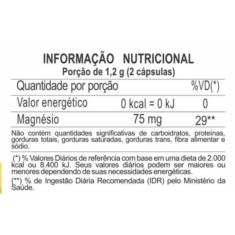 Magneclor Cloreto de Magnésio P.A. 600mg 60 Cápsulas Unilife