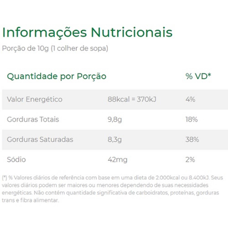 Manteiga de Coco 200g Copra Sem Lactose e Sem Glúten