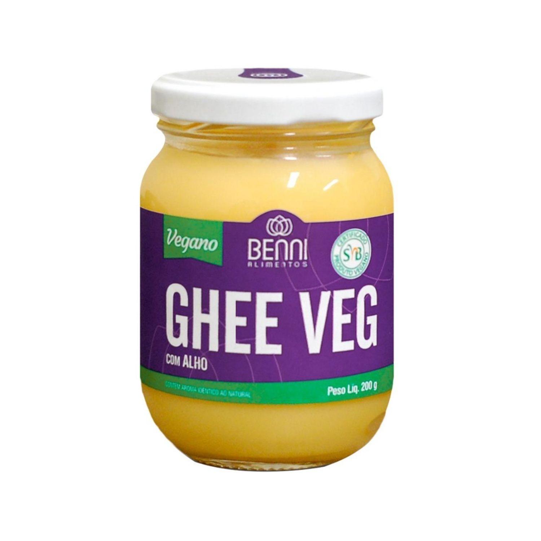 Manteiga Ghee Vegana com Alho 200g Benni