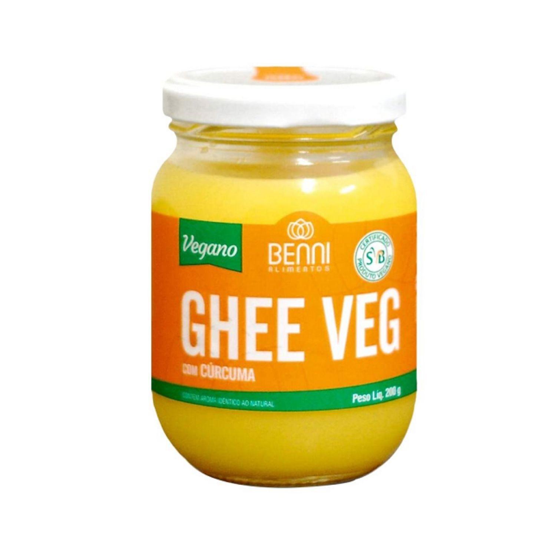 Manteiga Ghee Vegana com Cúrcuma 200g Benni