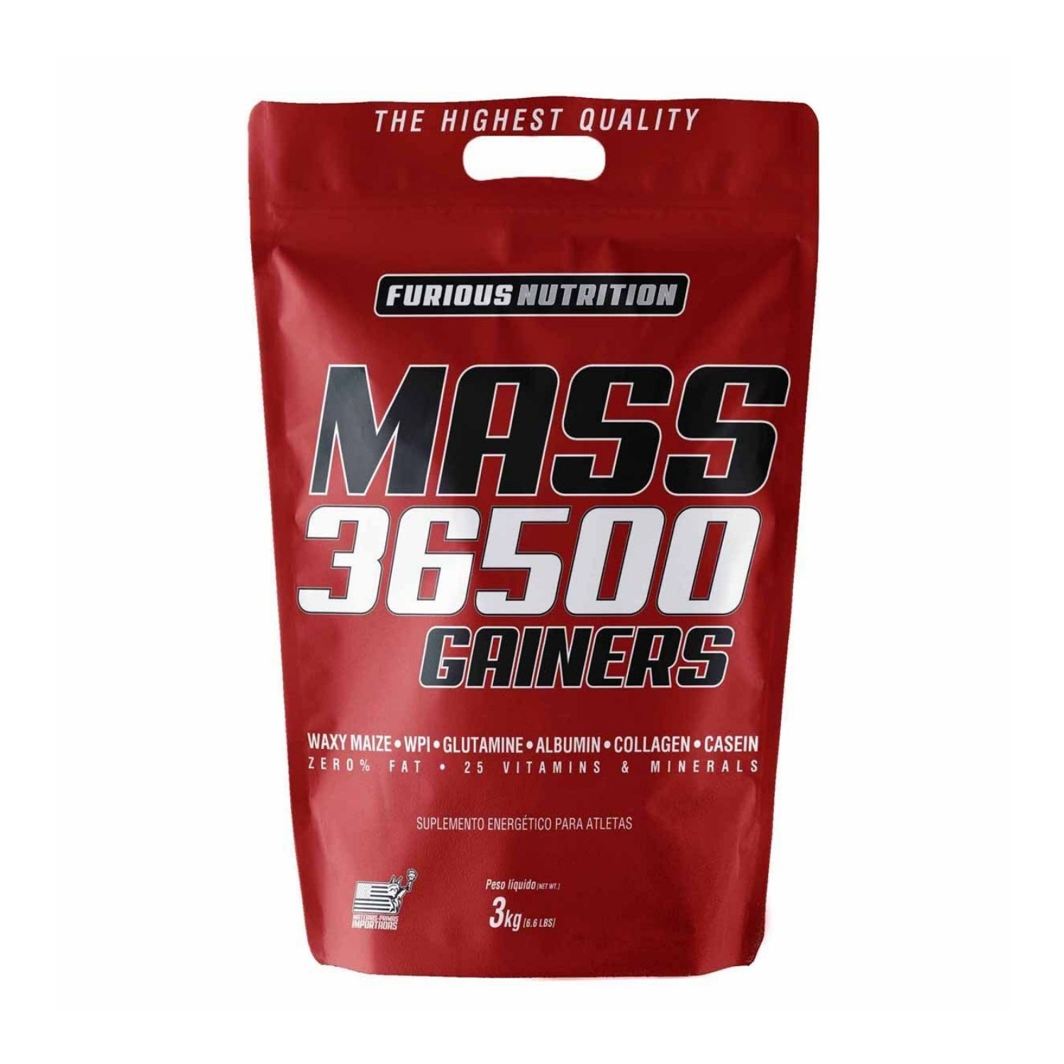 Mass 36500 Gainers 3kg Furious Nutrition