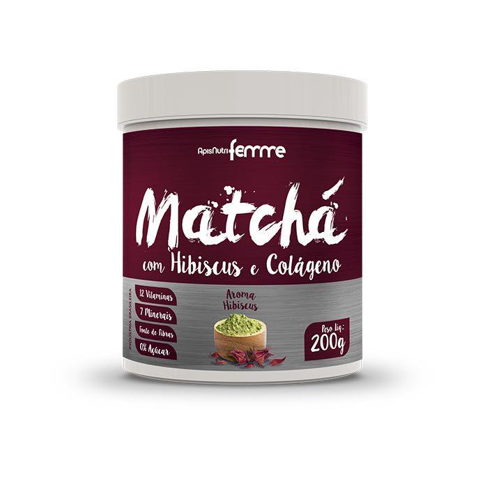 Matchá Solúvel com Colágeno 200g Apisnutri