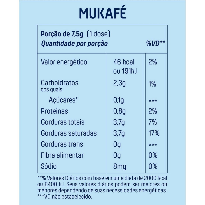 Mukafé Café Solúvel Termogênico com Chá Verde e TCM 220g +MU