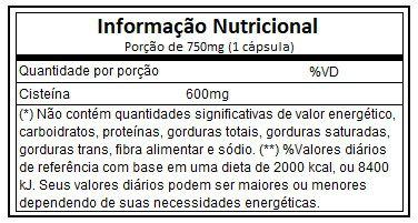 Nac 600mg 60 Cápsulas Atlhetica Nutrition