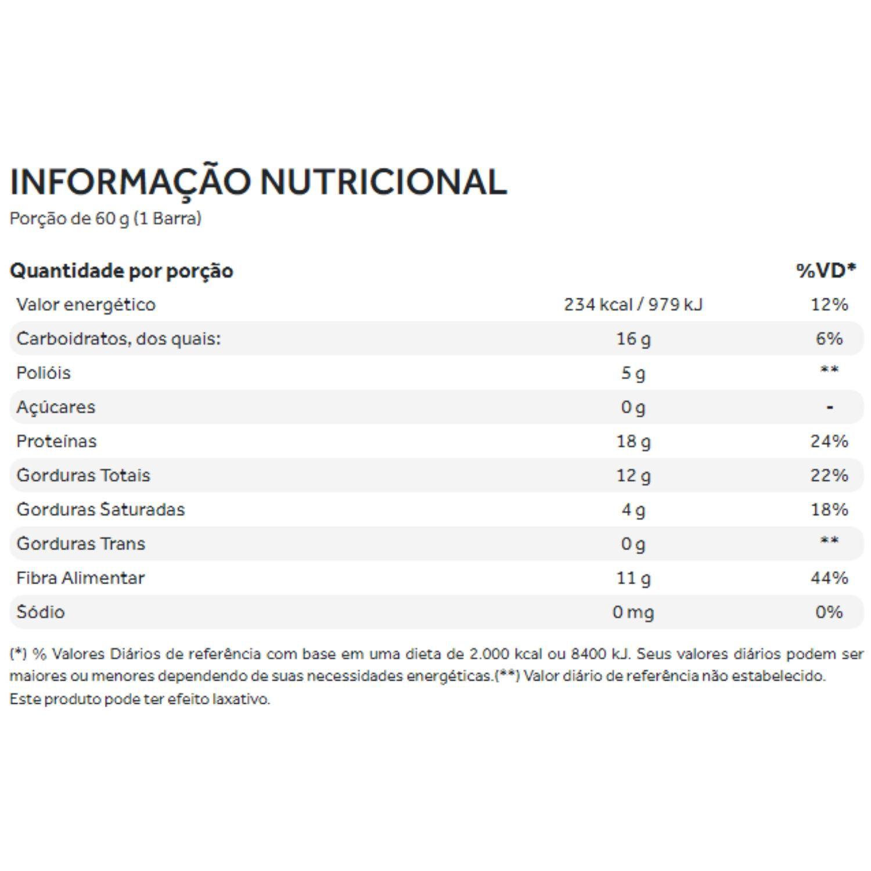 Natural Protein Bar 60g Puravida Brownie e Amêndoas