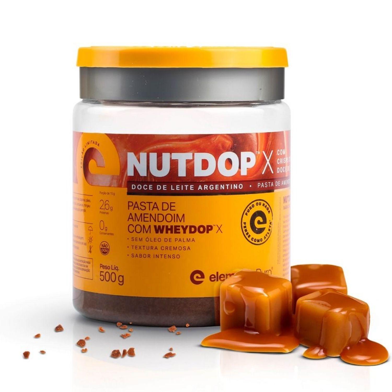 Nutdop X Pasta de Amendoim com Whey Protein Elemento Puro 500g