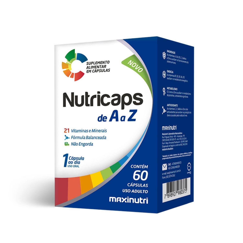 Nutricaps A a Z 60 Cápsulas Maxinutri