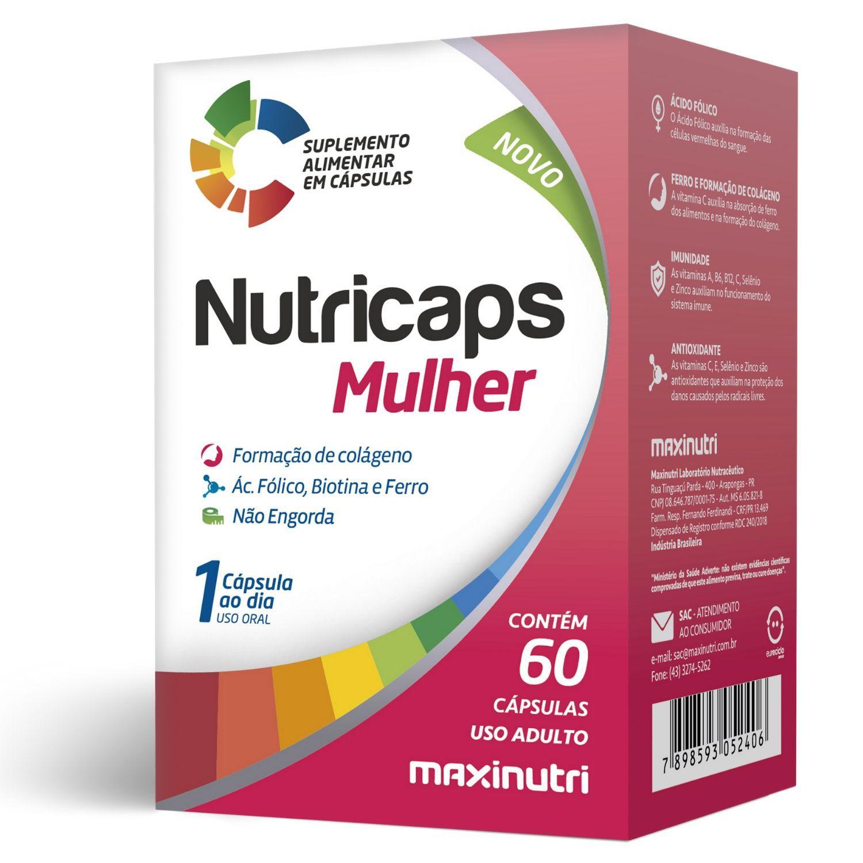 Nutricaps Mulher 60 Cápsulas Maxinutri