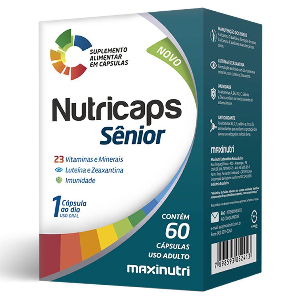 Nutricaps Sênior 60 Cápsulas Maxinutri