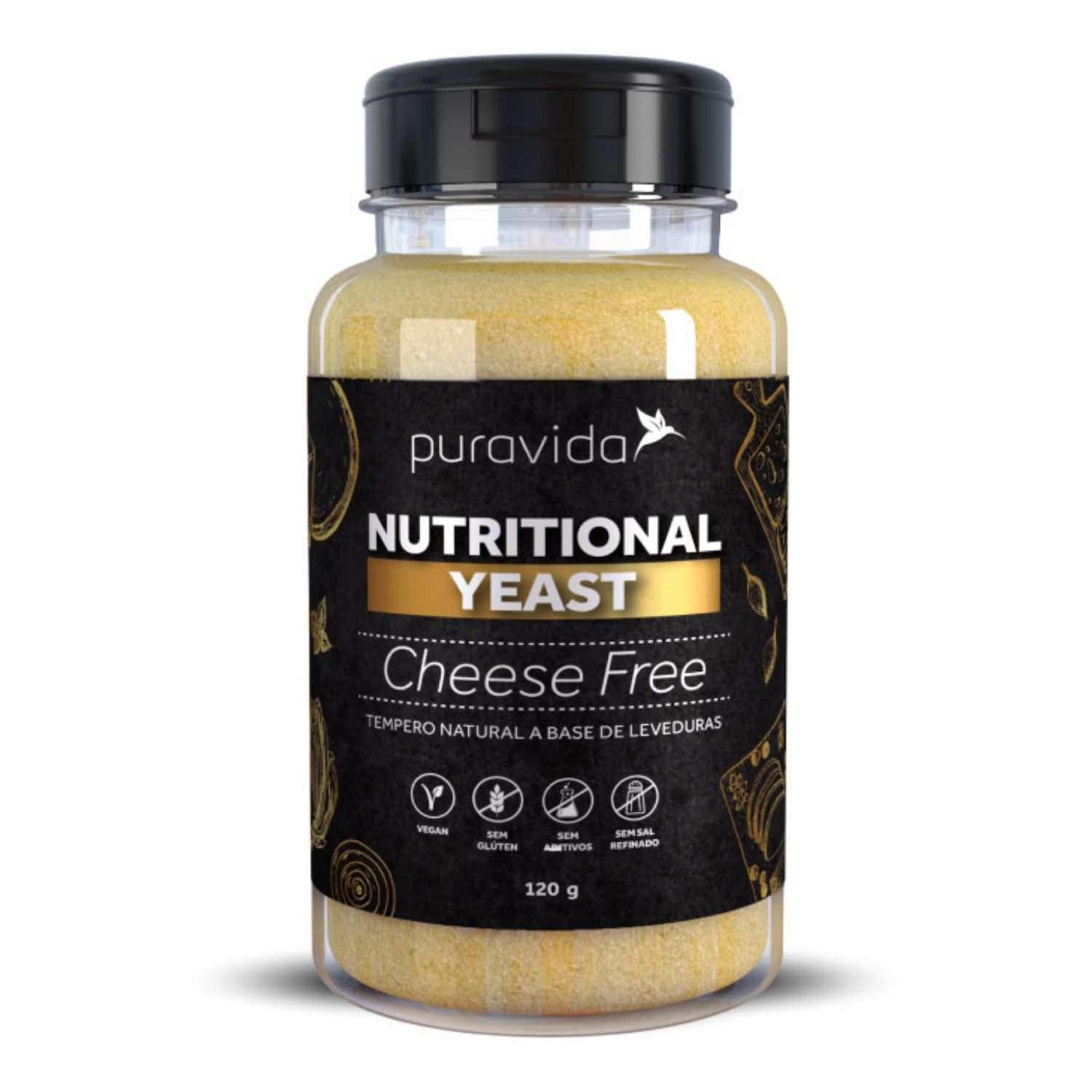 Nutritional Yeast Cheese Free 120g Puravida