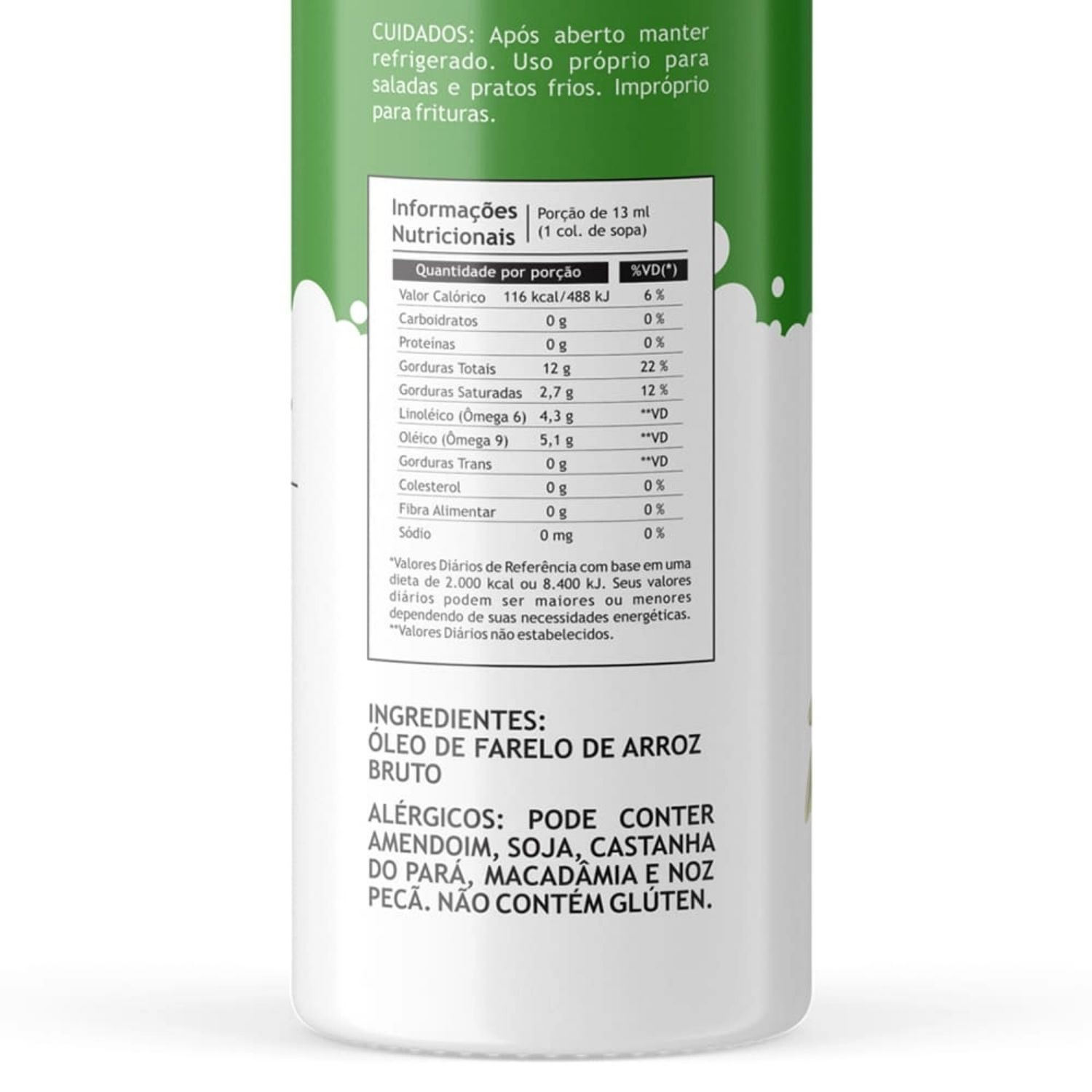 Óleo de Arroz Vegetal Pazze 250ml