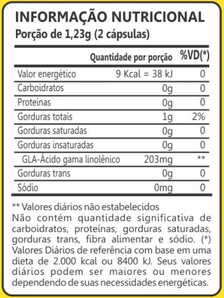 Óleo de Borragem 500mg 60 Cápsulas Maxinutri
