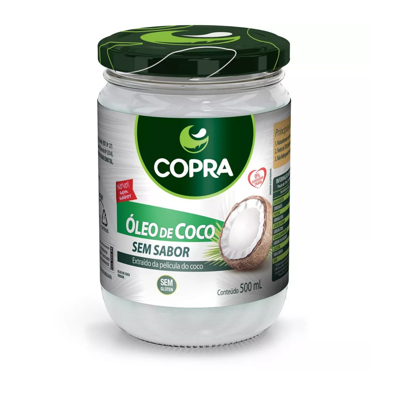 Óleo de Coco 100% Natural 500g Copra Sem Sabor