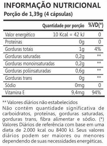Óleo de Germe de Trigo 250mg 60 Cápsulas Maxinutri