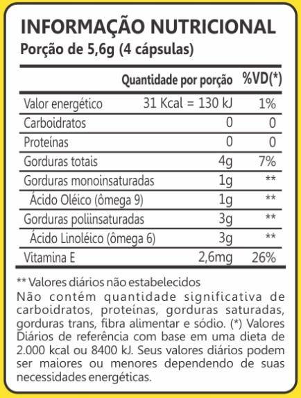 Óleo de Girassol 1000mg 60 Cápsulas Maxinutri