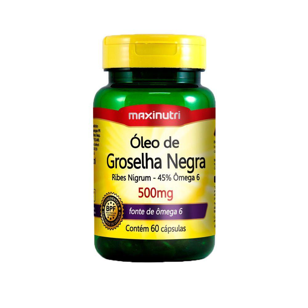 Óleo de Groselha Negra 500mg 60 Cápsulas Maxinutri