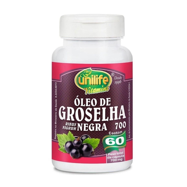 Óleo de Groselha Negra 60 Cápsulas Unilife