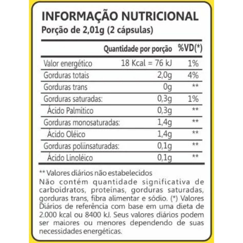Óleo de Oliveira 1000mg 60 Cápsulas Maxinutri