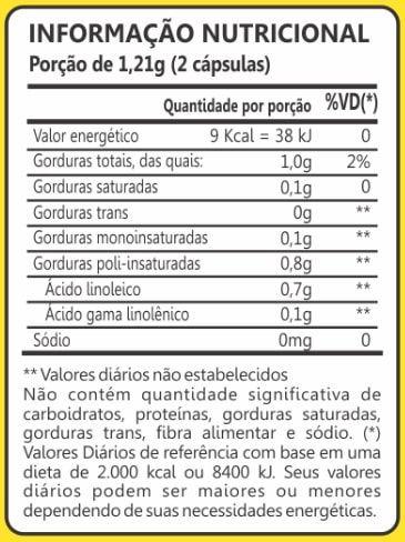 Óleo de Prímula 500mg 60 Cápsulas Maxinutri