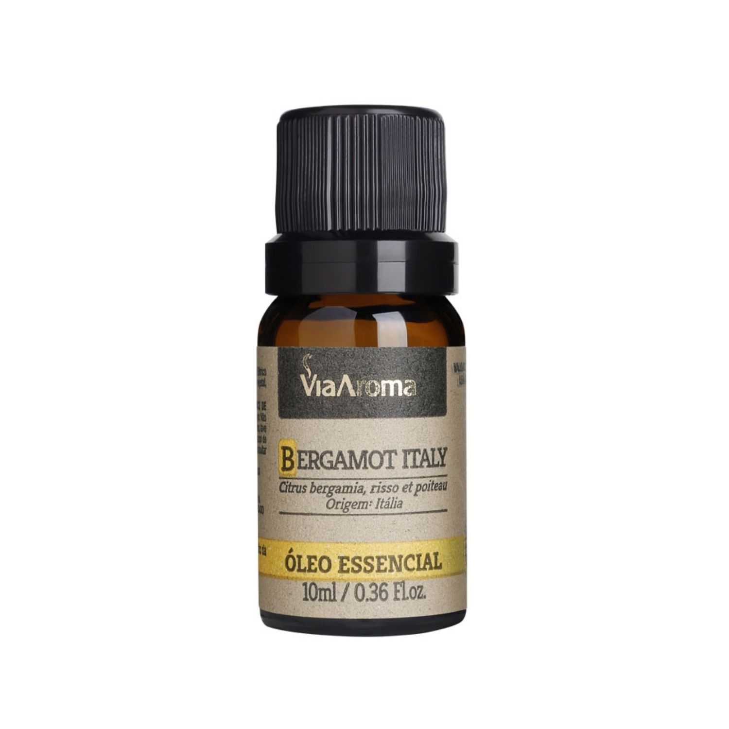 Óleo Essencial de Bergamot Italy 10ml Via Aroma 100% Natural