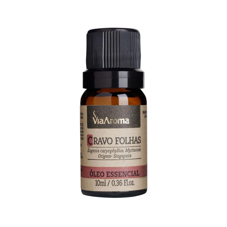 Óleo Essencial de Cravo Folhas 10ml Via Aroma 100% Natural