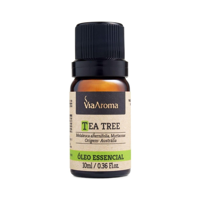 Óleo Essencial de Tea Tree Melaleuca 10ml Via Aroma 100% Natural