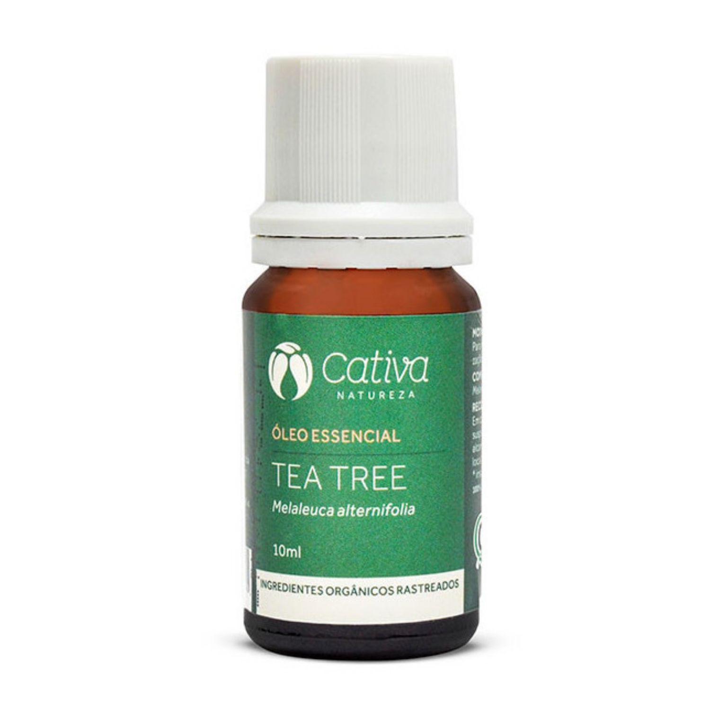 Óleo Essencial de Tea Tree Orgânico Natural Vegano 10ml Cativa Natureza