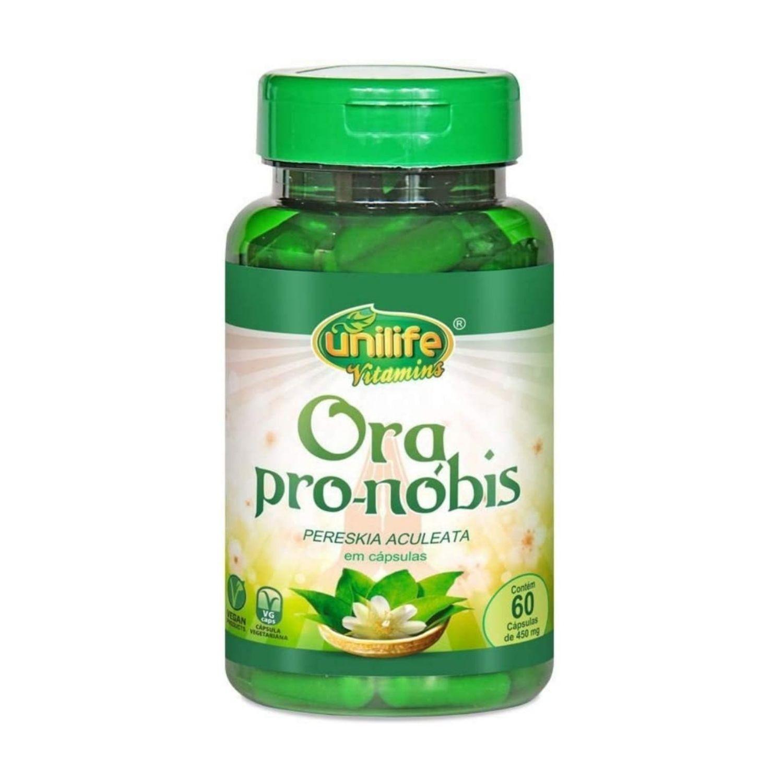 Ora Pro-Nóbis 450mg 60 Cápsulas Unilife