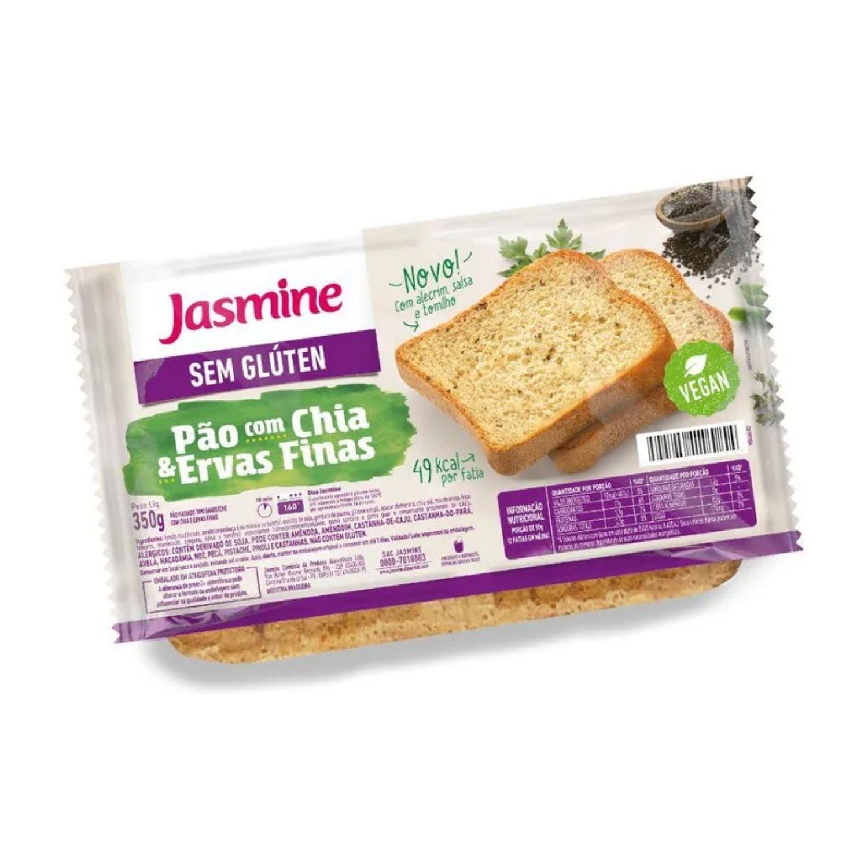 Pão Sem Glúten com Chia e Ervas Finas 350g Jasmine