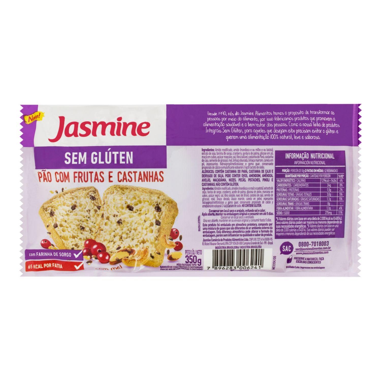 Pão Sem Glúten com Frutas e Castanhas 350g  Jasmine