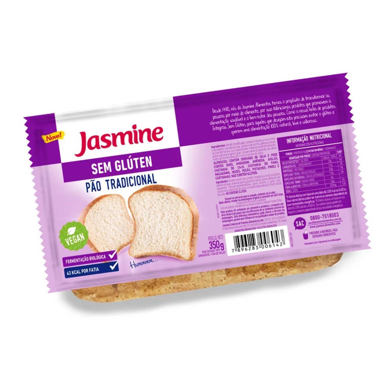 Pão Sem Glúten Tradicional Fatiado 350g  Jasmine