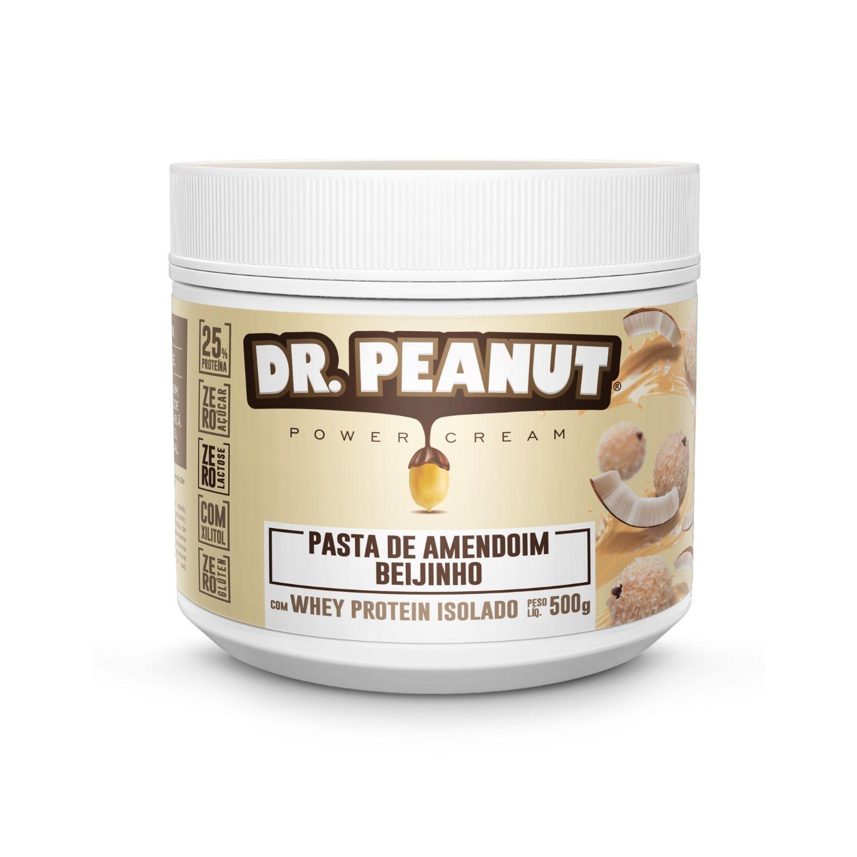Pasta de Amendoim Dr Peanut Beijinho com Whey Protein 500g Zero Açúcar Zero Lactose