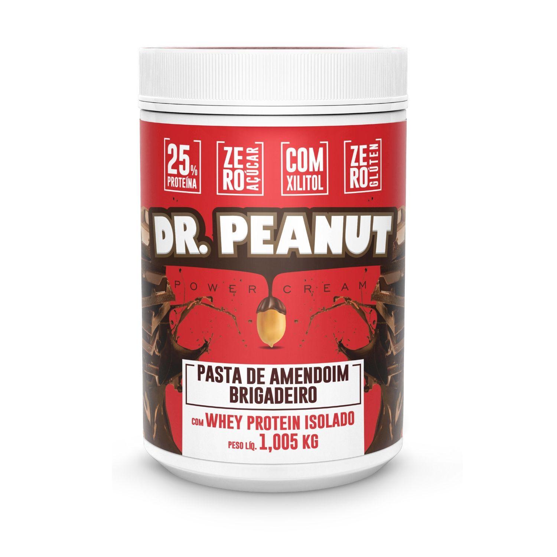 Pasta de Amendoim Dr Peanut Brigadeiro com Whey Protein 1Kg Zero Açúcar