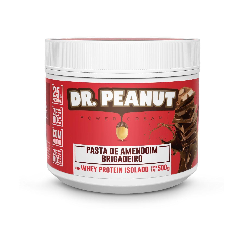 Pasta de Amendoim Dr Peanut Brigadeiro com Whey Protein 500g Zero Açúcar