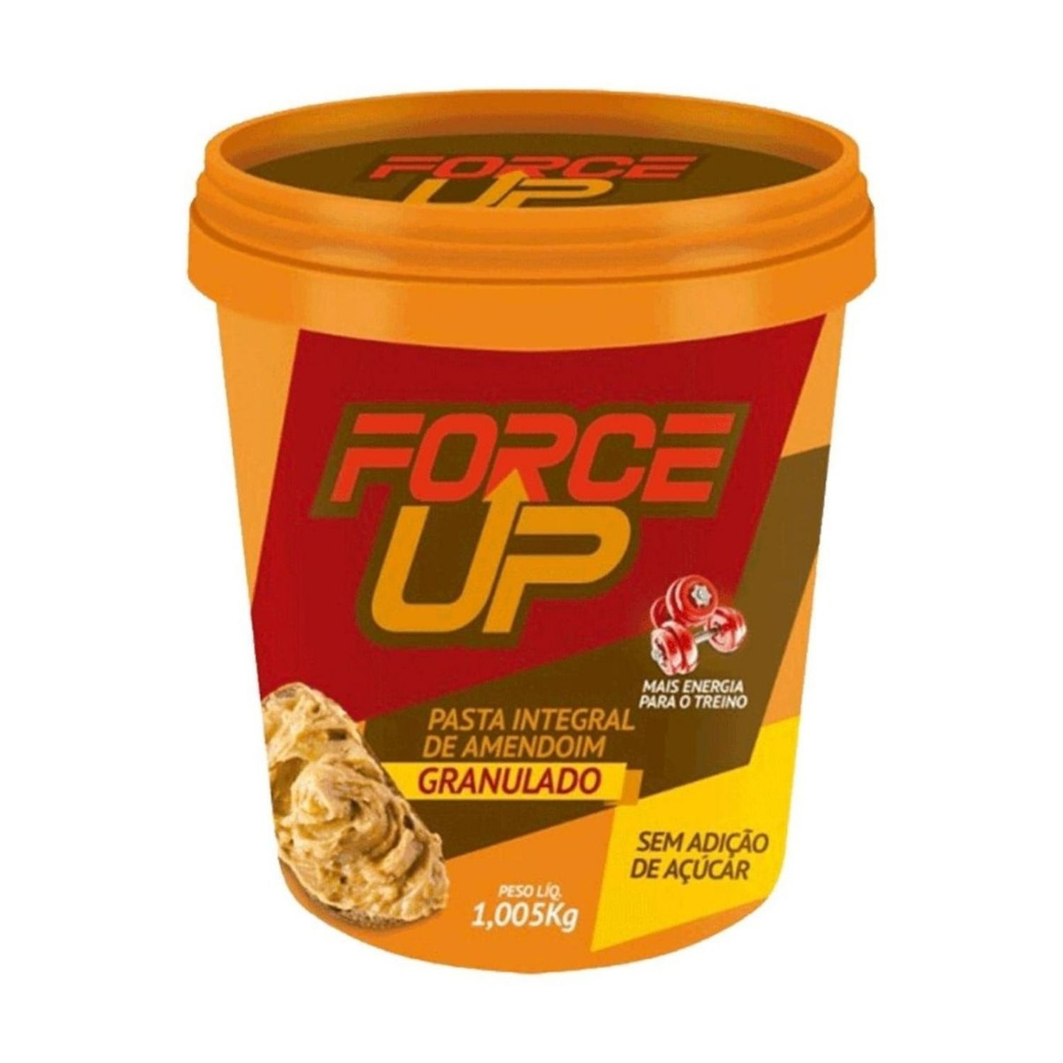Pasta de Amendoim Integral Force UP Amendoim Granulado 1Kg