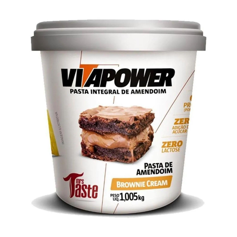 Pasta de Amendoim Integral Vitapower Brownie Cream 1,005 Kg
