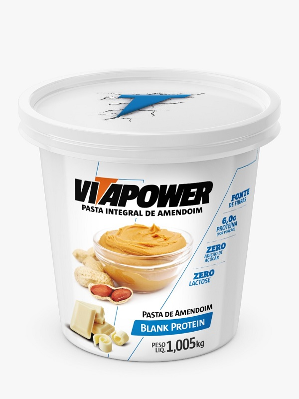 Pasta de Amendoim Integral Vitapower Chocolate Branco 1,005 Kg