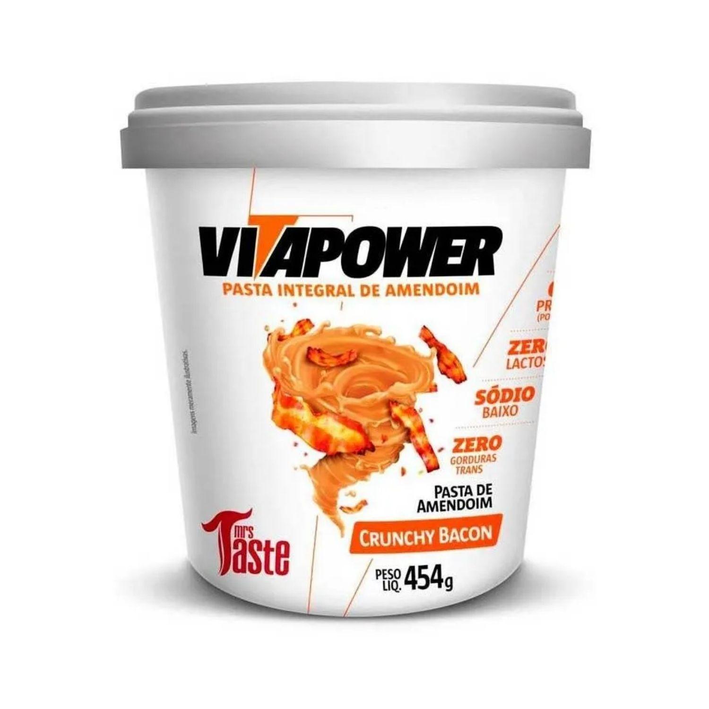 Pasta de Amendoim Integral Vitapower Crunchy Bacon 454g