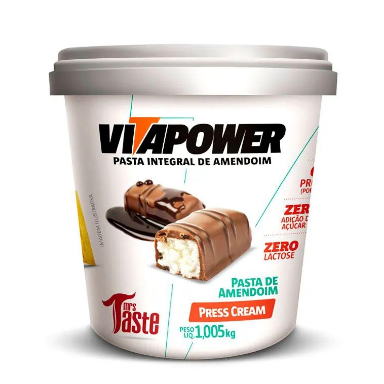 Pasta de Amendoim Integral Vitapower Press Cream 1,005 Kg
