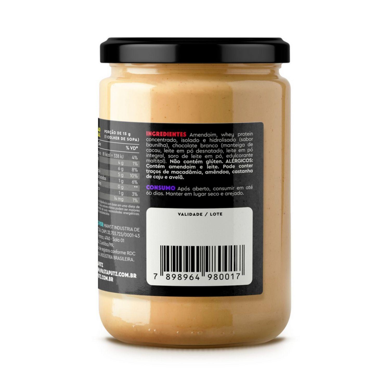 Pasta de Amendoim Putz! Chocolate Branco com Whey Protein 600g