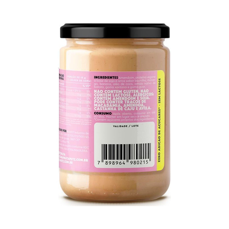 Pasta de Amendoim Vegana Putz! Banana e Morango 600g