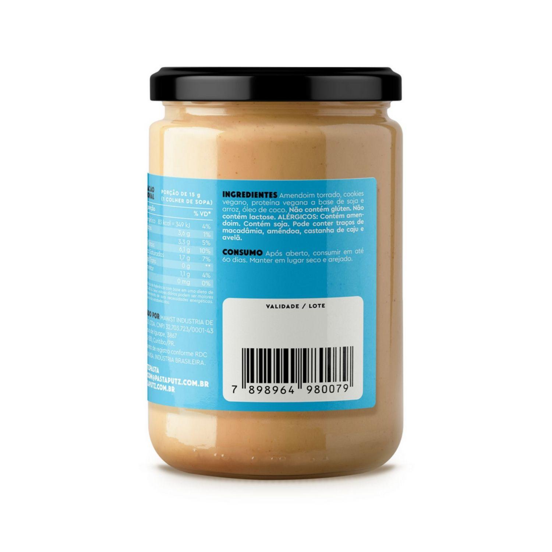 Pasta de Amendoim Vegana Putz! Cookies & Cream 600g