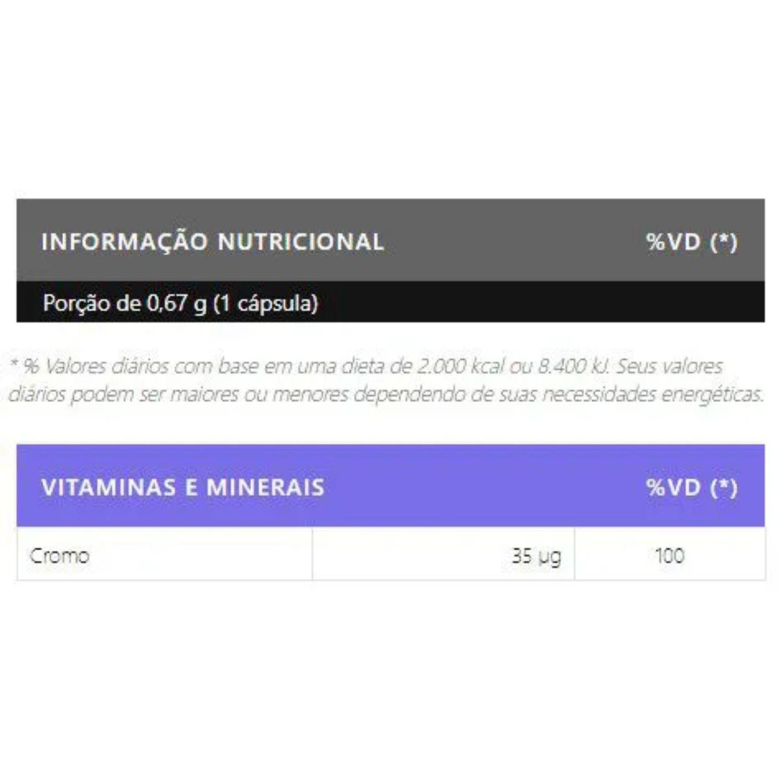 Picolinato de Cromo 120 Cápsulas Body Nutry