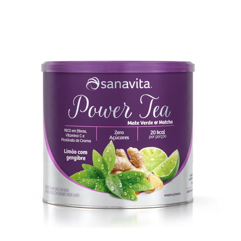 Power Tea Mate Verde e Matchá 200g Sanavita